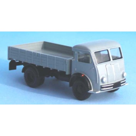 Camion Berliet GLB5 R à plateau et ridelles gris Retro87 SAI4942