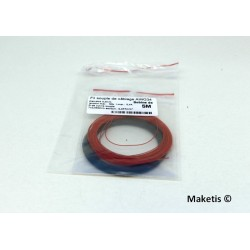 Câblage souple 0,5 mm bobine 5 m Rouge Noir