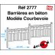 Barrières en béton modèle Courbevoie [HO]