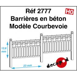 Barrières en béton modèle Courbevoie HO Decapod 2777 - Maketis