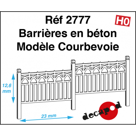 Betonsperren Modell Courbevoie H0 Decapod 2777 - Maketis