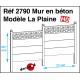 Concrete wall model La Plaine H0 Decapod 2790 - Maketis