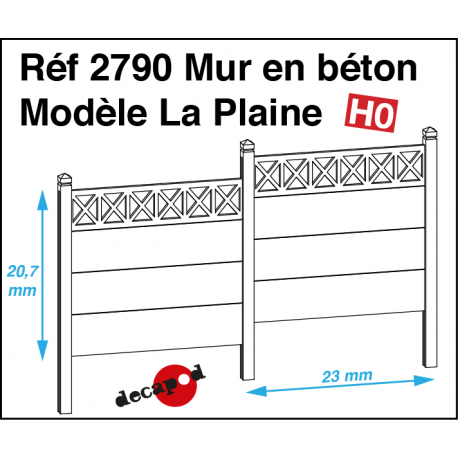 Betonwand Modell La Plaine H0 Decapod 2790 - Maketis
