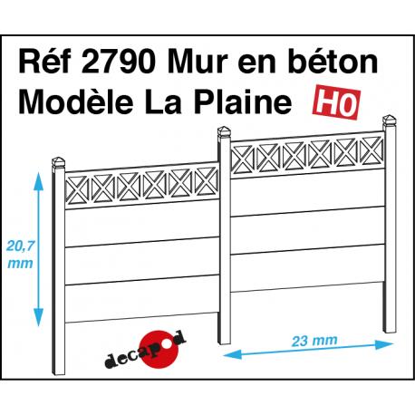 Mur en béton modèle La Plaine HO Decapod 2790 - Maketis