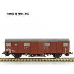 Wagon couvert DB Gbs 254 avec logo DB Ep IV HO Exact-Train EX20406