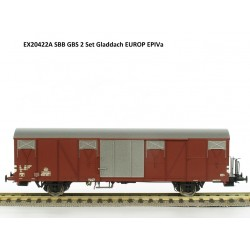 Set de 2 wagons couverts CFF-SBB Gbs Ep IV HO Exact-Train EX20422