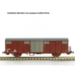 Set de 2 wagons couverts CFF-SBB Gbs Ep IV HO Exact-Train EX20423