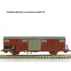Set de 2 wagons couverts CFF-SBB Ep V HO Exact-Train EX20424