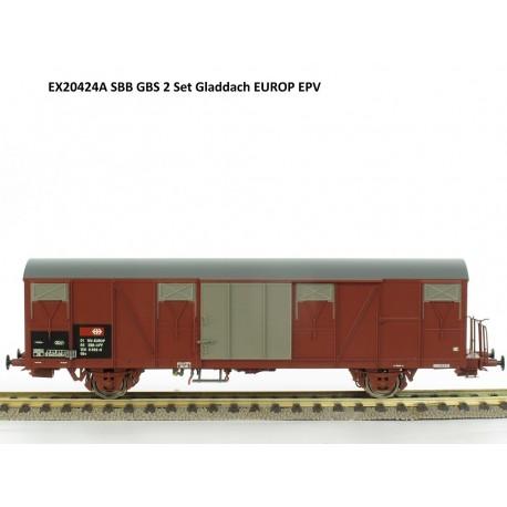 Set de 2 wagons couverts CFF-SBB Ep V HO Exact-Train EX20424