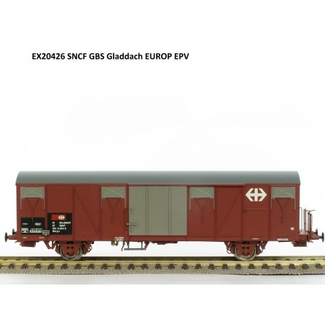Wagon couvert Gbs SNCF avec logo CFF-SBB Ep V HO Exact-Train EX20426