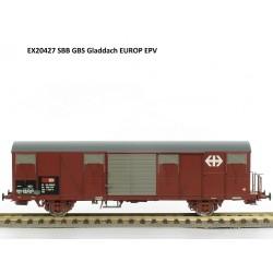 Wagon couvert CFF-SBB Gbs Ep V HO Exact-Train EX20427