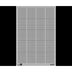 Clôture moderne hauteur 2m [HO]