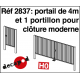 Portail de 4 m et 1 portillon pour clôture moderne [HO]