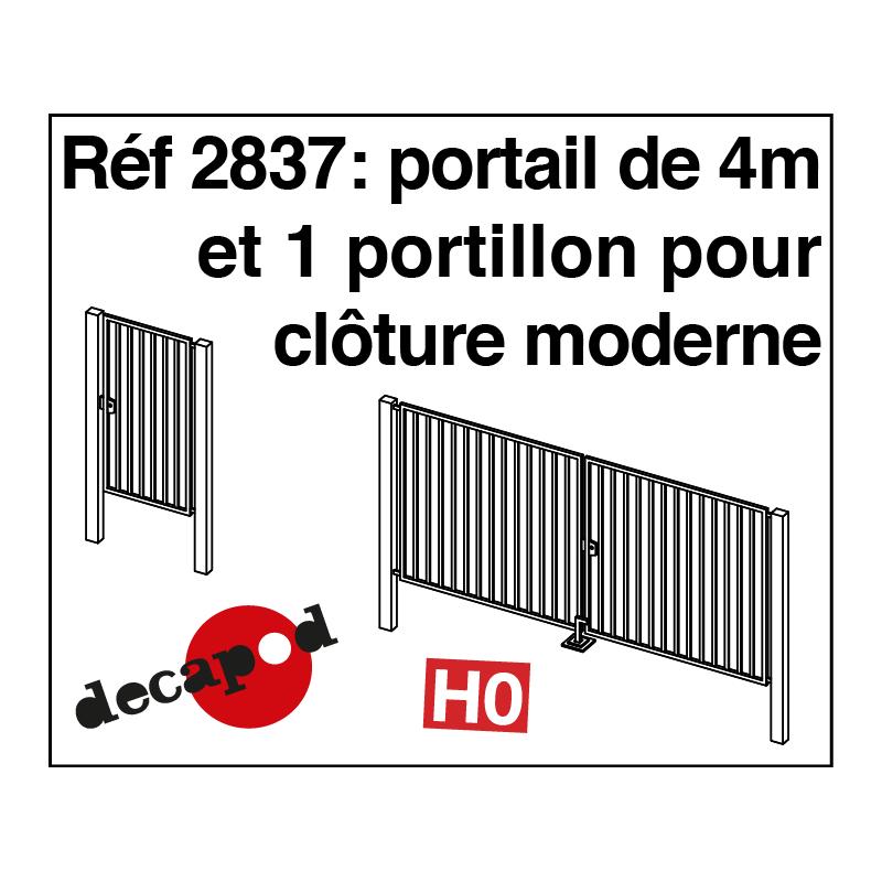 Portail de 4 m et 1 portillon pour cl ture moderne for Portail et cloture moderne