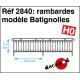 Rambardes modèle Batignolles [HO]