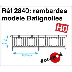 Rambardes modèle Batignolles HO Decapod 2840 - Maketis