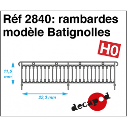 Geländer Modell Batignolles H0 Decapod 2840 - Maketis