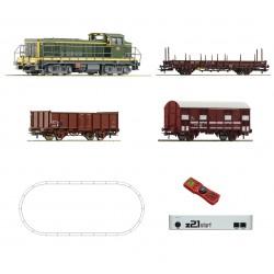 Coffret de départ digital Z21 Roco HO BB63500 SNCF + 3 wagons 51300