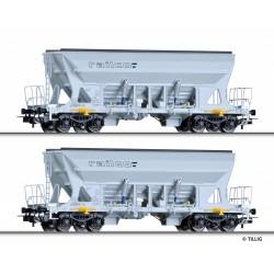 Set de 2 wagons-trémies à bogies Faccns RAILCO Ep VI HO Tillig 70027