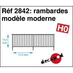 Rambardes modèle moderne HO Decapod 2842 - Maketis