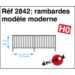 Railings modern model H0 Decapod 2842 - Maketis