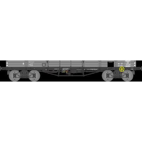 Wagon plat TP à 5 ridelles Ep.II PO NTyw 110525 HO REE WB-498