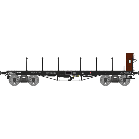 Wagon plat TP avec guérite Ep.III A SNCF Rywf 10593 HO REE WB-504