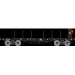 Wagon plat TP avec guérite Ep.III B SNCF Qrywf 180471 HO REE WB-505