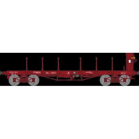 Wagon plat TP avec guérite Ep.IV SNCF 30 87-972 1 482-9 HO REE WB-506