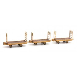 Set 3 chariots porte bagages HO Artitec DE-012