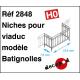 Batignolles model railings for viaduct niche H0 Decapod 2848 - Maketis