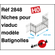 Rambardes modèle Batignolles pour niche de viaduc HO Decapod 2848 - Maketis
