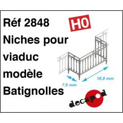 Batignolles-Modell Geländer für Viadukt-Nische H0 Decapod 2848 - Maketis