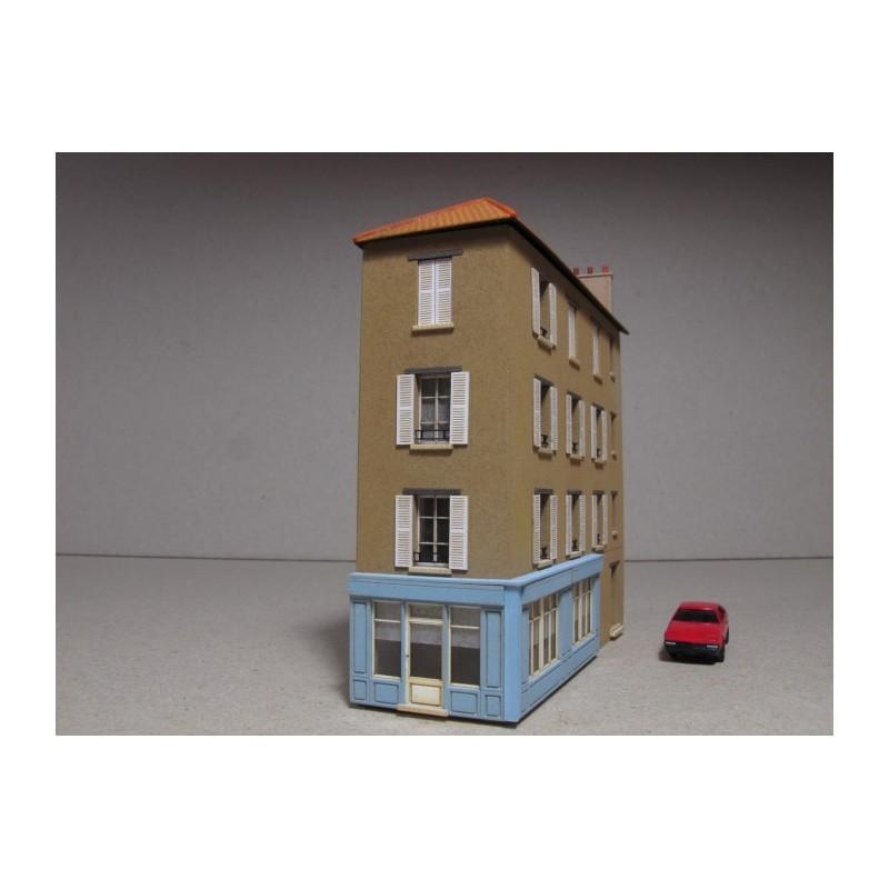 maison de ville angle r 3 39 au bon coin 39 chelle n cit s miniatures bv 013 n. Black Bedroom Furniture Sets. Home Design Ideas