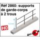 Supports de garde-corps à 2 trous [HO]