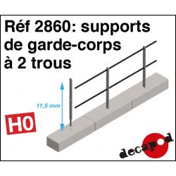 2-Loch-Geländerstützen H0 Decapod 2860 - Maketis