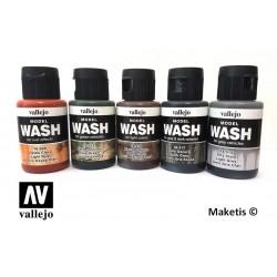 Wash ou lavis acrylique Vallejo 35ml - MAKETIS