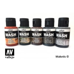 Wash ou lavis acrylique Vallejo 35ml - MAKETIS