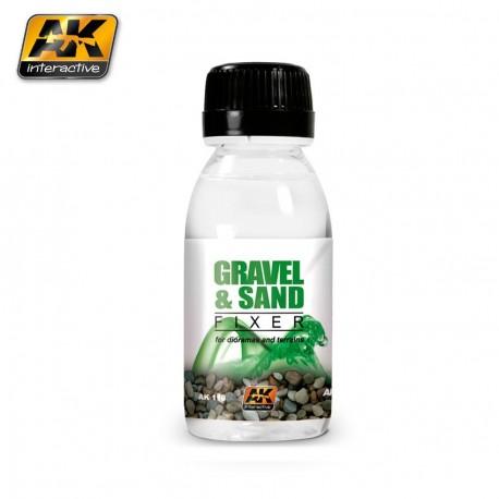 Fixateur de gravier et sable 100 ml AK Interactive AK118