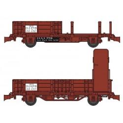 Set 2 wagonnets Draisine (Plat à ridelles + Tombereau ) Ep III HO REE WB-486