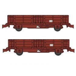 Set 2 wagonnets Draisine (Tombereau) Ep III HO REE WB-487