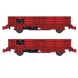 Set 2 wagonnets Draisine (Tombereau) Ep IV HO REE WB-490