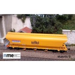 Wagon céréalier Tagnpps 101m³ NACCO, jaune EP VI, ref 511601