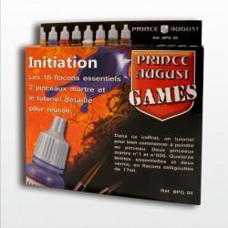 Coffret d'initiation Prince August Games 16 flacons et 2 pinceaux