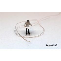 LED CMS précâblée 0402 blanc chaud fil émaillé (5 pièces)