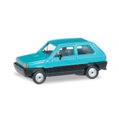 Fiat Panda bleu turquoise, HO, Herpa 027335-003