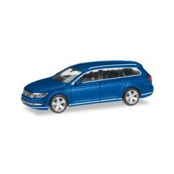 VW Passat bleu atlantique métalisé, HO, Herpa 038423-004