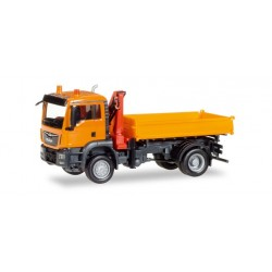 Camion benne + bras Man TGS M Euro 6c, Ho, Herpa 308267