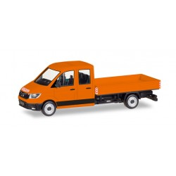 Camionette Man TGE double CAB orange avec benne, HO, Herpa 93453