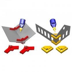 """Ensemble de pinces magnétiques """"Snap & Glue"""" (4 paires) Proses PR-SS-05"""